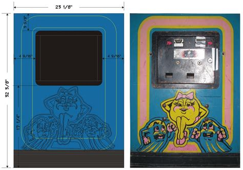 Galaga Arcade Cabinet Dimensions by Galaxian Cabinet Plans Scifihits