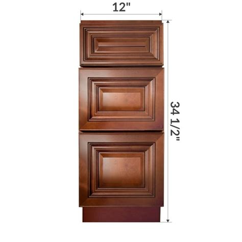 rta kitchen base cabinets vdb1221345 geneva 12 quot vanity drawer base cabinet rta 4912