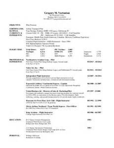 Traditional Resume Template Greg Vartanian Pilot Resume 03 14