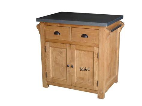 cuisine bois et metal petit ilot central de cuisine