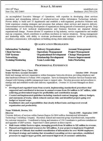 Resume Template Executive by Free Executive Resume Template