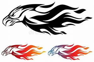 Fire eagle stock vector. Illustration of line, logo ...