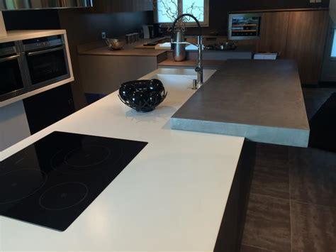 plan de travail en béton ciré cuisine plan de travail béton ciré béton color design à
