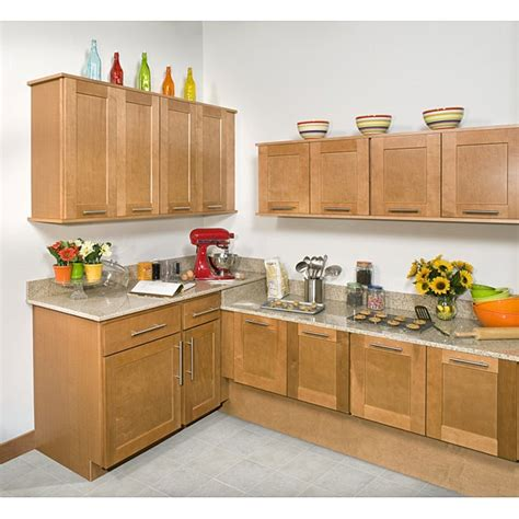 honey stained 30 inch wall blind corner kitchen cabinet