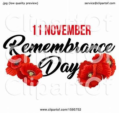 Remembrance Poppy Clipart Flower Royalty Illustration Vector