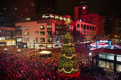 westlake center christmas tree lighting fairs and festivals 2016 the seattle times