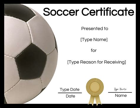 soccer certificate maker edit   print  home