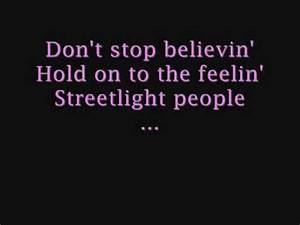 Journey - Don't Stop Believin' (LYRICS) - YouTube