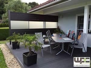 Terrassendielen Wpc Erfahrungen : bildergalerie wpc sichtschutz wpc wandverkleidung wpc poolterrasse adorjan terrassendielen ~ Watch28wear.com Haus und Dekorationen