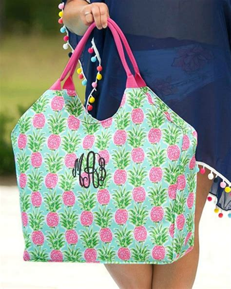 personalized large beach bag oversized pool tote gifts happen