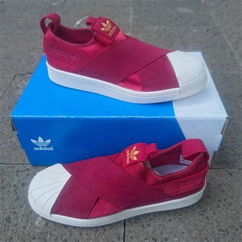 jual sepatu adidas superstar merah maroon premium quality by adhezta store di lapak