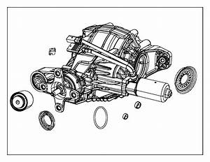 2017 Jeep Grand Cherokee Differential  Rear Axle  Gear