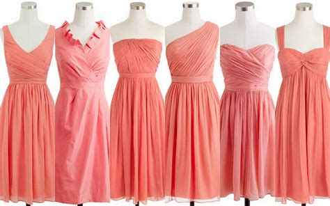 coral colored bridesmaid dresses summer bridesmaid dress ideas