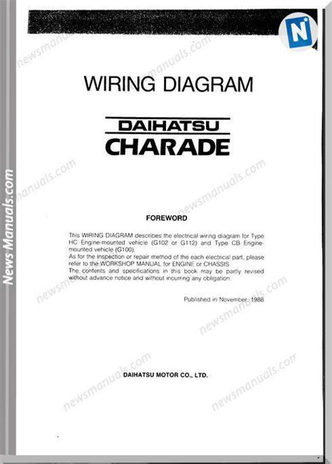 Daihatsu Charade G100 Wiring Diagram by Daihatsu Charade Wiring Diagram G100