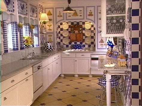 create  perfect blue  white kitchen hgtv