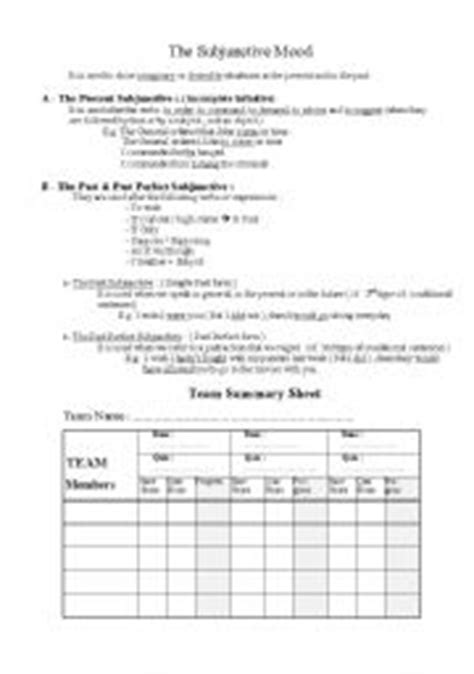 the subjunctive worksheets