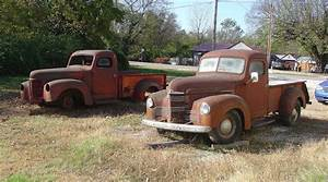 A Pair Of  U0026 39 Em  1948 International Kb2 Trucks