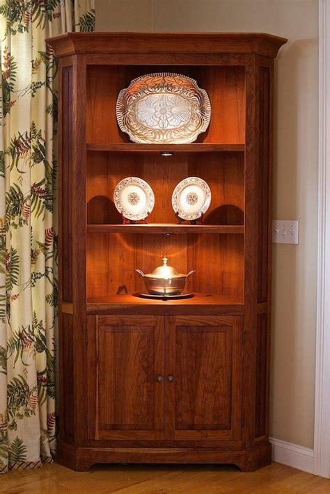 hand crafted cherry corner cabinet  oceanside