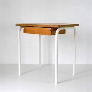 Bureau écolier Vintage : bureau ecolier ivoire la marelle mobilier vintage pour enfants ~ Nature-et-papiers.com Idées de Décoration