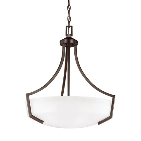 sea gull lighting hanford 3 light burnt pendant