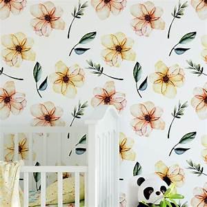 Bebe garderie fleur aquarelle papier peint for Chambre bébé design avec boutique livraison fleurs aquarelle com