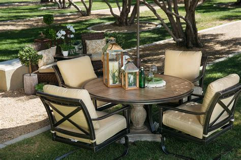 """Agio Franklin 60"""" Round Table  Mathis Brothers Furniture. Outdoor Patio Sets Ebay. Home Depot Iron Patio Furniture. Small Patio Ideas Condo. Patio Slabs East Midlands. Building Patio Over Tree Roots. Install Patio Wall. Patio House Plans Designs. Wicker Patio Furniture Sets Under 500"""