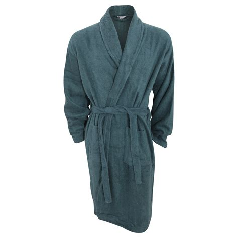 mens plain cotton towelling robe dressing gown ebay