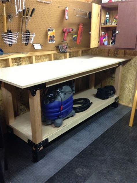 build  heavy duty workbench    brackets