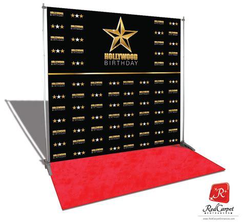 hollywood birthday backdrop red carpet kit black