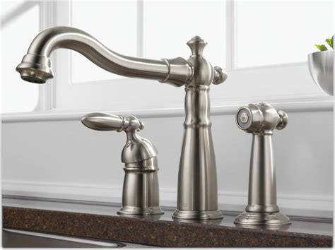 leaking single handle kitchen faucet delta 155 ss dst single handle widespread