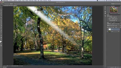 como crear rayos de sol en photoshop cs youtube