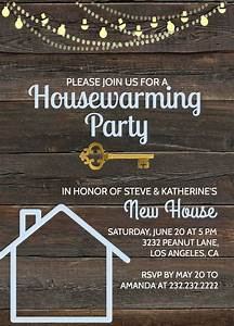 Design Printable Card Rustic Housewarming Invitation House Warming Party