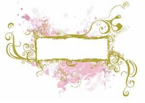 Decorative Swirl Vector Frame