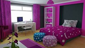 purple color for girls bedroom decorating ideas 915x514 With girls bedroom purple decorating ideas