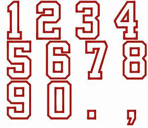 13 varsity outline font for numbers images varsity With varsity block letters