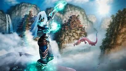 Warcraft Wow Legion Wallpapers Priest Winter Banner