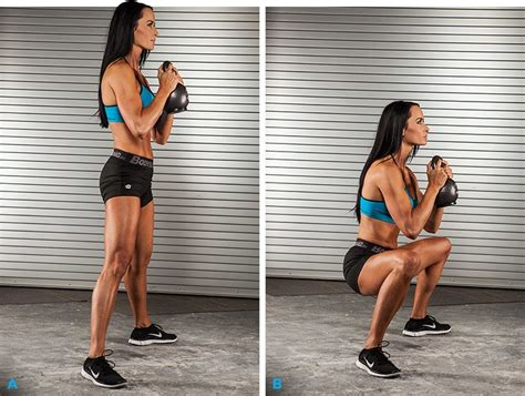 rear kettlebells squat ladies kettlebell goblet bring butt workout bodybuilding power