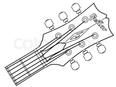 Electric Guitar Coloring Pages Castrophotos