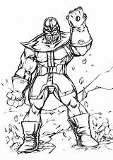 Thanos Coloring Pages Printable Sketch Marvel Children Avengers Hulk Super Bestcoloringpagesforkids Books Heroes Justcolor sketch template