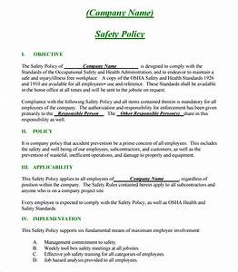Construction safety plan template 17 free word pdf for Contractor safety plan template