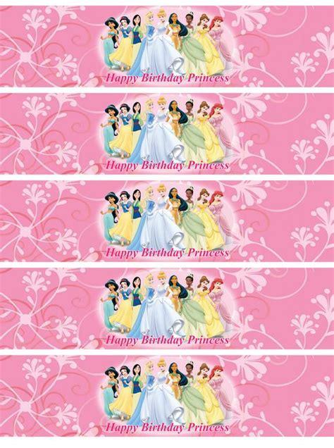 disney princess water bottle labels  mrsbsdigitaldesigns