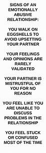 Signs of an emotionally abusive relationship. # ...