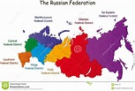 Russian Federation map stock vector. Illustration of area ...
