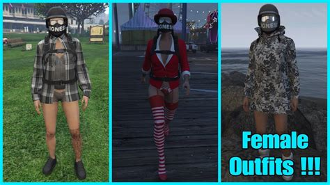 GTA 5 Online | ud83cudf69 Female Outfits #5 ud83cudf69 | [German] | [Ps4] - YouTube