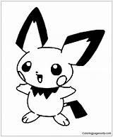 Pichu Coloring Pokemon Pages Cubchoo Getcolorings Printable Getdrawings sketch template