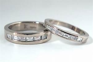 Diamond baguette bands for Mens wedding rings baguette diamonds