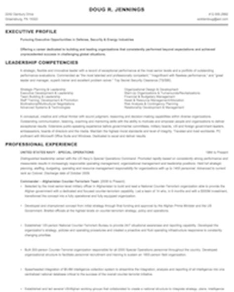 to civilian resume sles