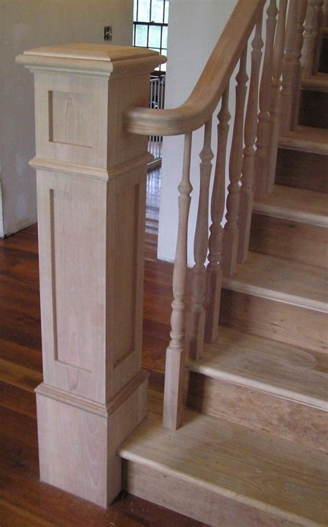banister handrails square newel post search stairway entryway