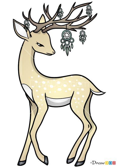 draw fantastic deer deer