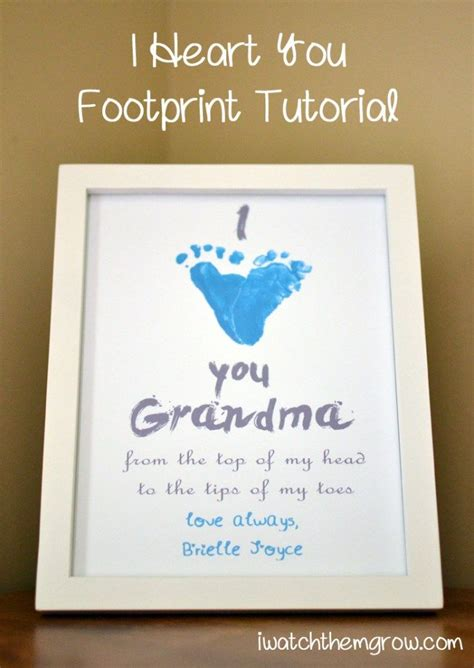 heart  footprint tutorial mothers day crafts baby